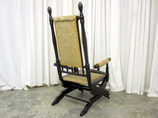 Antique Glider Rocker Chairs | Antique 1800's Eastlake Style Glider Rocking  Chair Upholstered Seat . - Antique Glider Rocker Chairs Antique 1800's Eastlake Style Glider