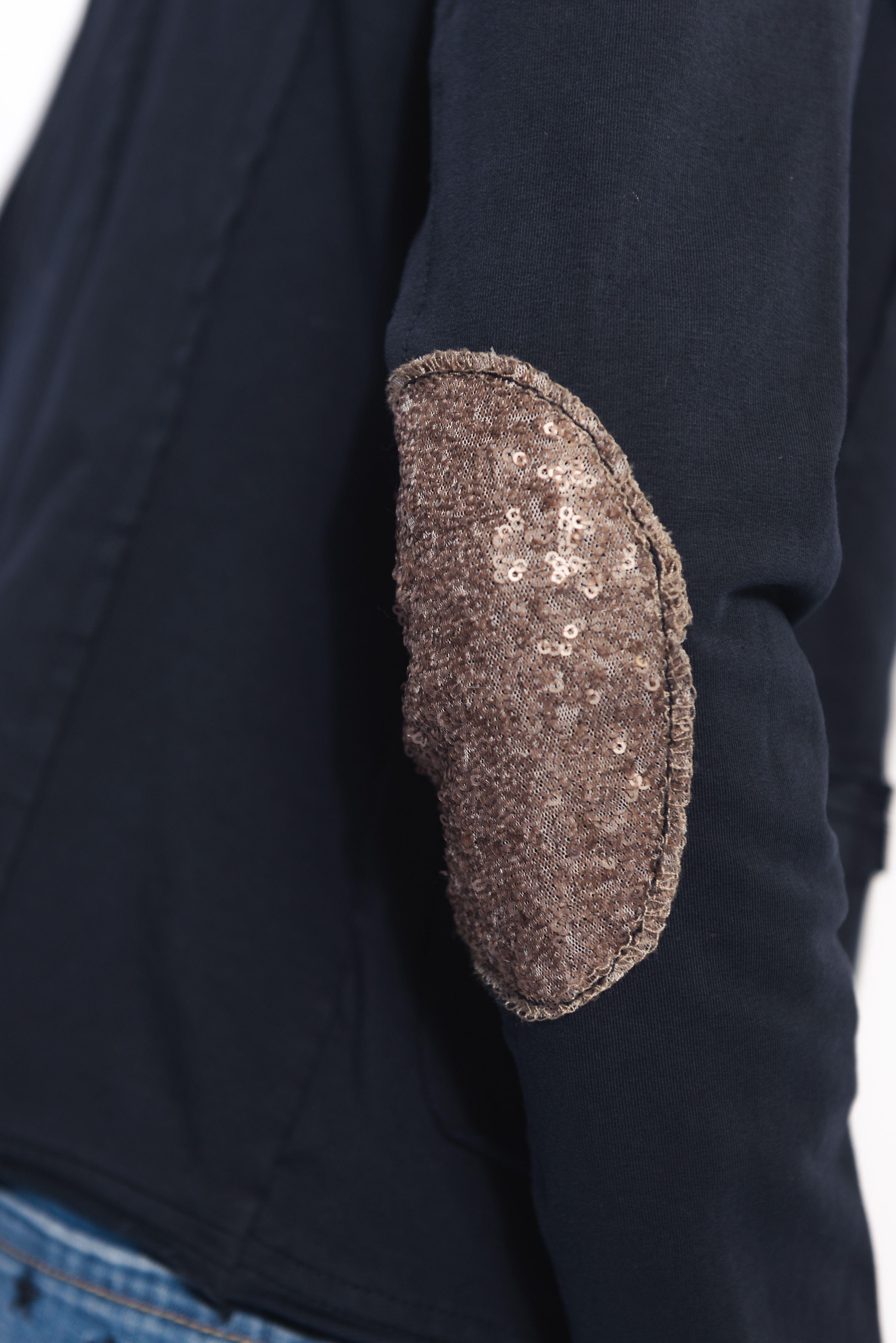achetez la veste blazer bleu marine femme avec paillettes sur les coudes sur notre site www. Black Bedroom Furniture Sets. Home Design Ideas