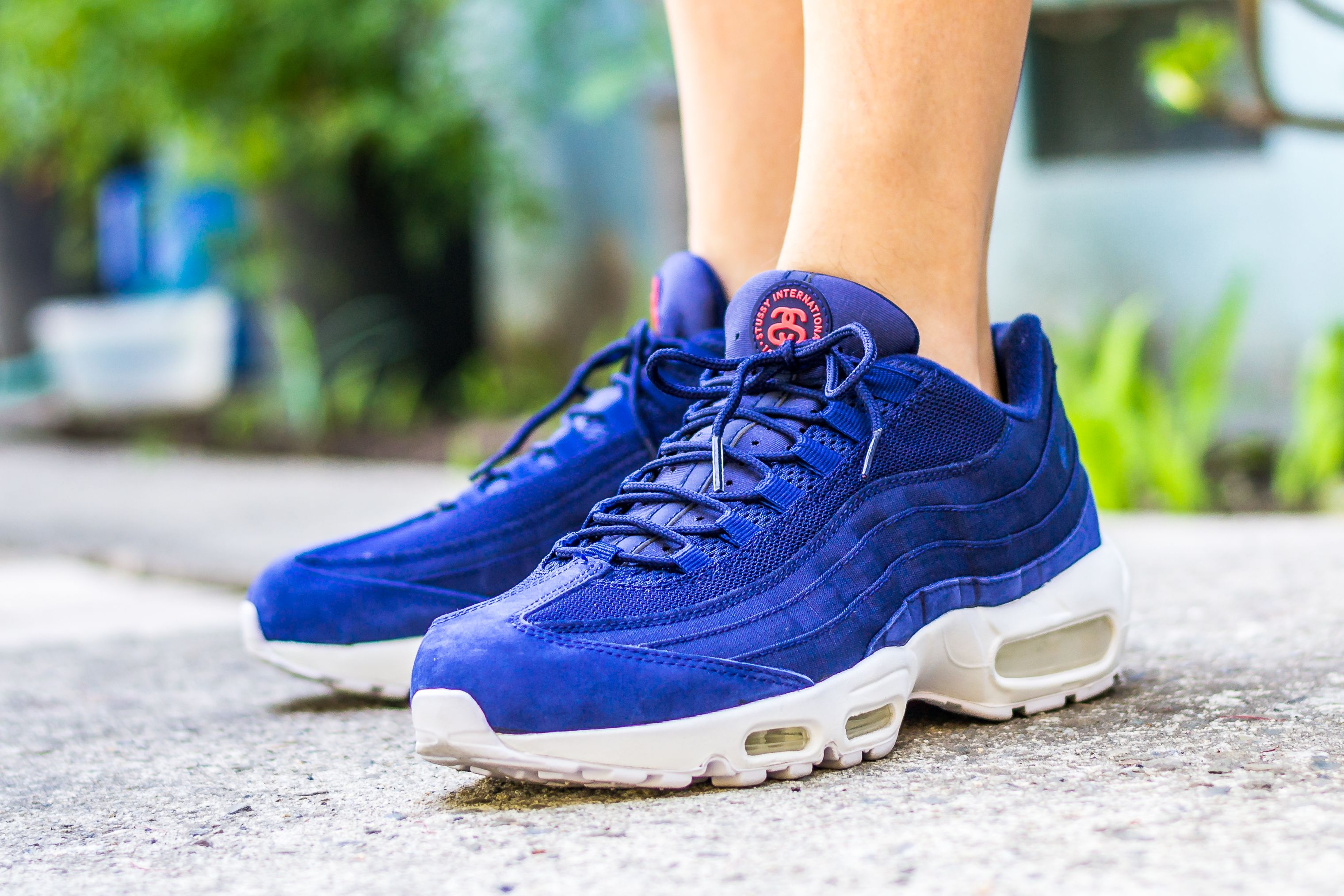 Nike Air Max 95 Stussy Loyal Blue On Feet | ?SneakerS oF