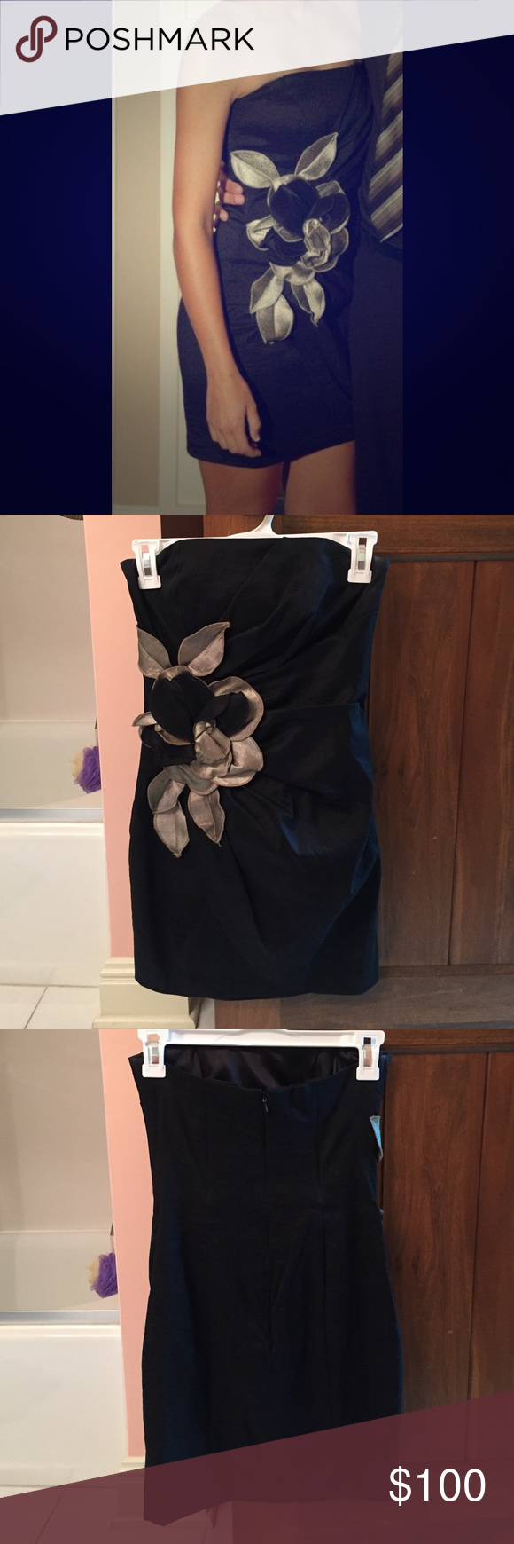 JESSICA McCLINTOCK PARTY DRESS Jessica McClintock dress worn only once, and in perfect condition! Worn to 2010 homecoming ☺️ size four, I would say runs a little bit small. Very beautiful and classy! Jessica McClintock Dresses Strapless