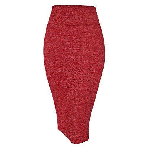 a2bd60ca1ae23e YouPue Femme Midi Jupe Crayon Moulant Elastiquée Avec Taille Haute ...