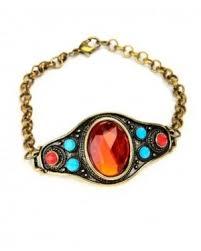 Pari Stylish Bright Coloured Stone Bracelet   #bracelets #accessories #fashionjewellery #stonebracelet