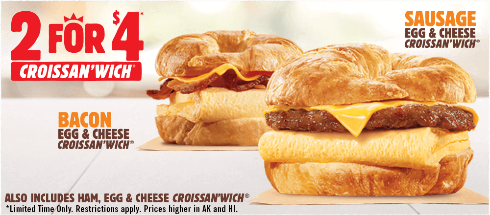 2 For 5 Value Deal At Participating Restaurants Burger King Breakfast Breakfast Burger Burger