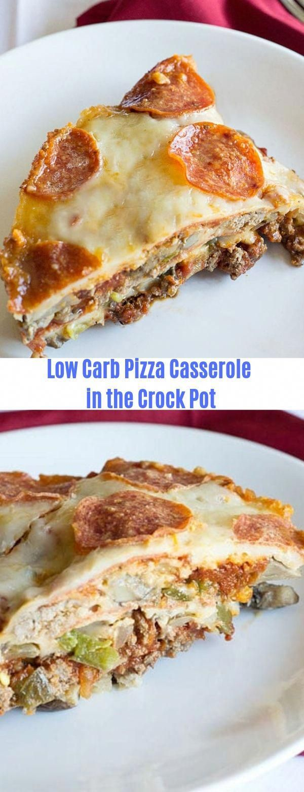 Low Carb Pizza Casserole in the Crock Pot CarbCrock PotPizzaCasserole