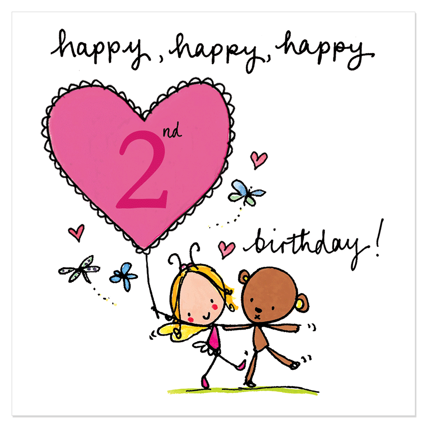 Happy 2nd Birthday Birthday Cards Wishes Images And Messages – Happy 2nd Birthday Card