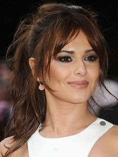 Middle Part Bangs Hair Styles Hair Shows Cheryl Cole Hair