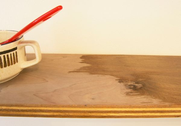 Steel wool + vinegar stain, then rubbed tung oil over Use this on