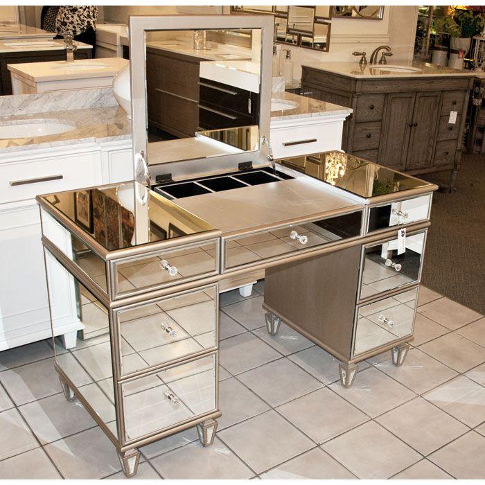 Mirrored Vanity Table Desk 50 X30 H Mirrored Vanity Table