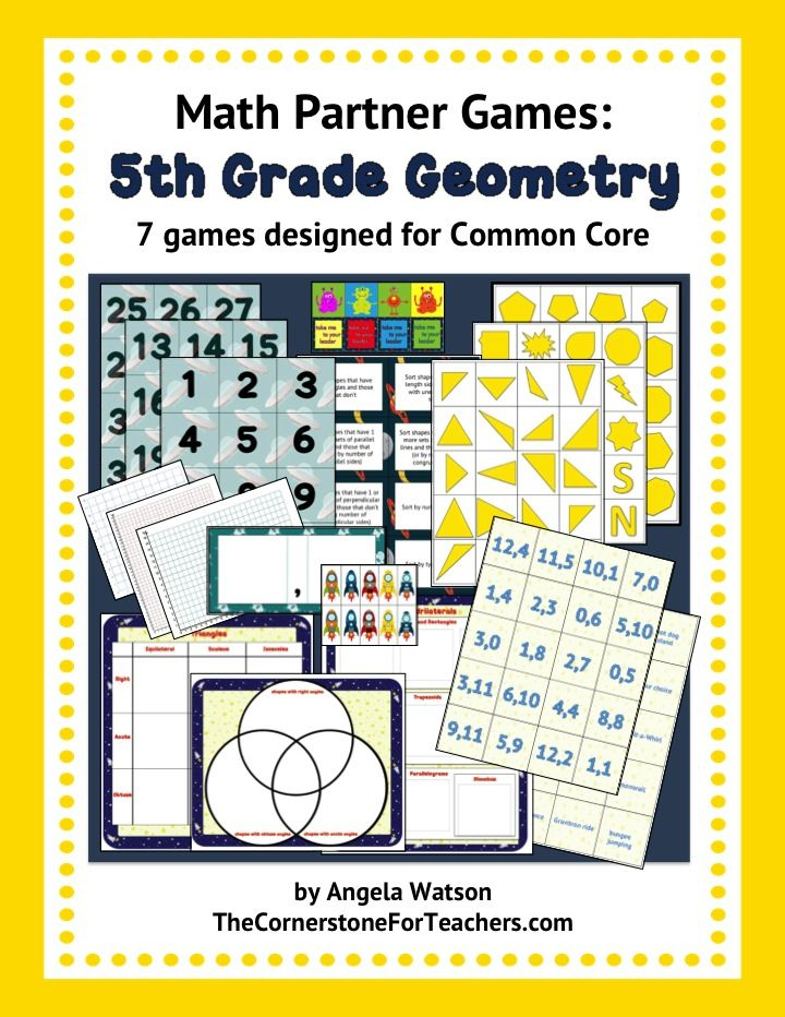 Geometry math partner games and a 2D shapes freebie | Printables ...