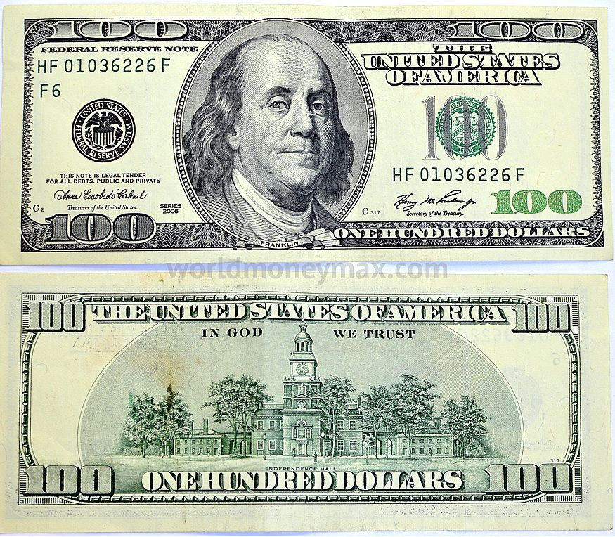 Usa 100 Dollar 2006 Banknote Worldmoneymax The United States Of America One Hundred Dollars In We Thust