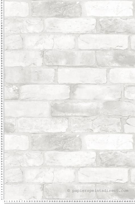 Papier Peint Larges Briques Blanc Fabrique De Lutece Ref Ltc