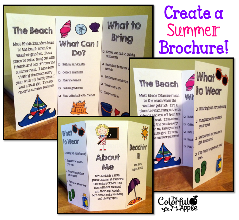 Printable Travel Brochure Template For Kids: Back-to-School Idea: Students Create A Brochure About