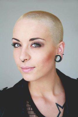 Women shaved head lesbian