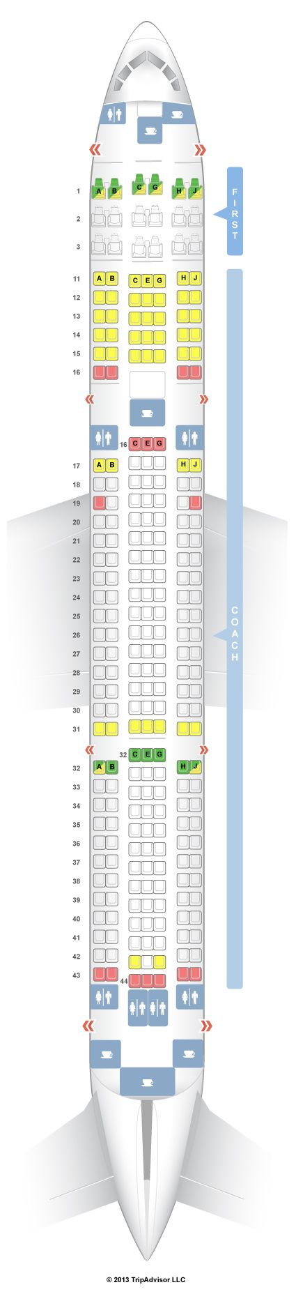 Seatguru seat map hawaiian airlines boeing er  also best images commercial aircraft air ride aviation rh pinterest