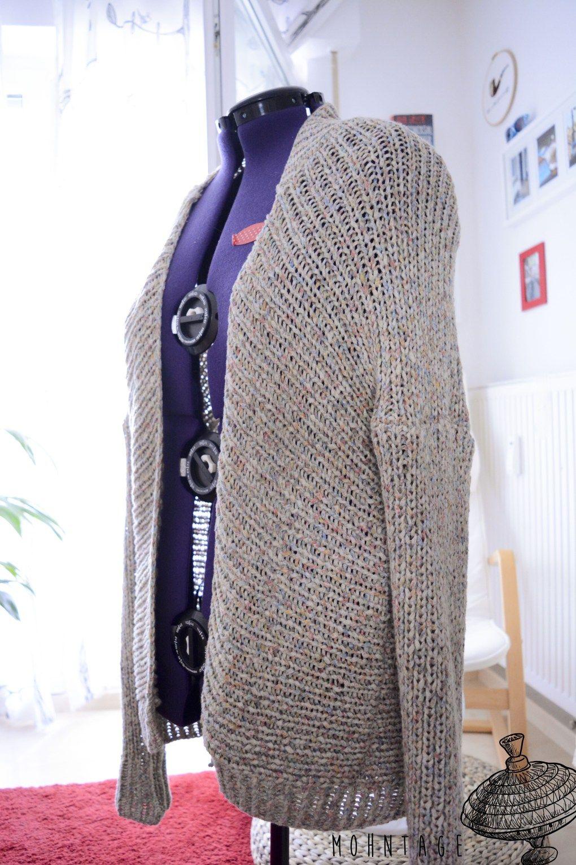 DIY Kimono Jacke stricken | Jacke stricken, Jacken und