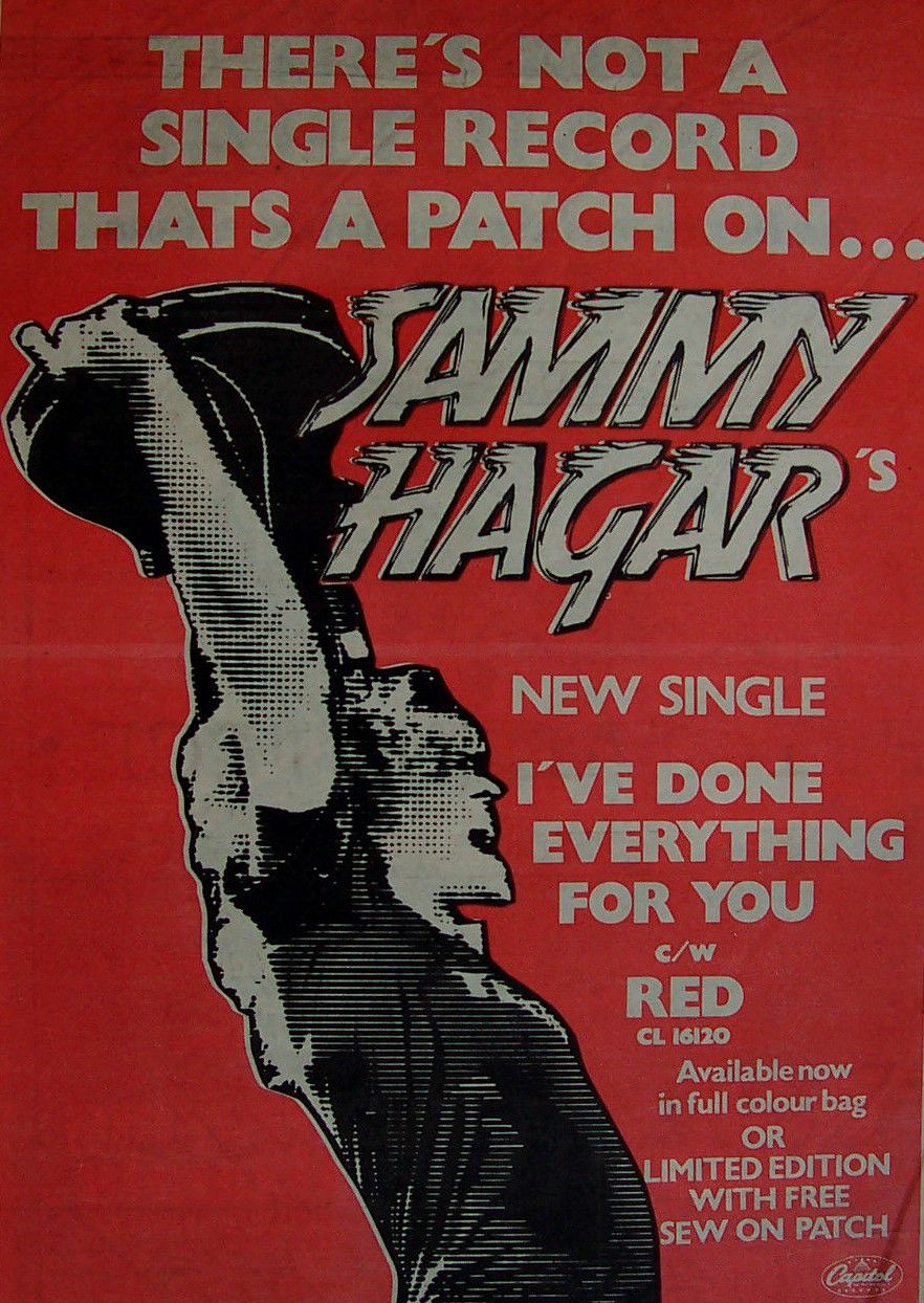 Sammy Hagar Promotional Ad Https Www Facebook Com Fromthewaybackmachine With Images Rock Videos Gig Posters Record Store