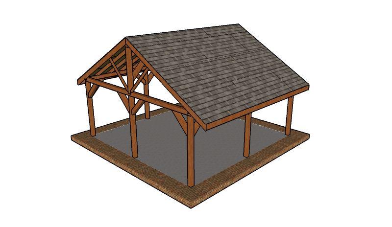 20x20 picnic shelter plans free gazebo plans pinterest for A frame shelter plans