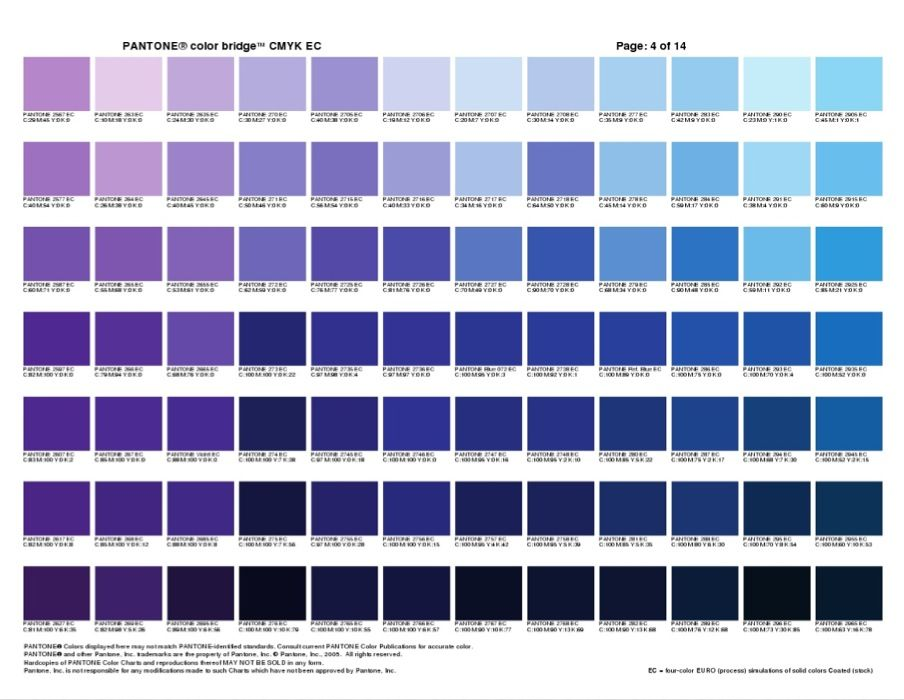 pantone color bridge 3 - purple & blue | work | Pinterest | Pantone ...