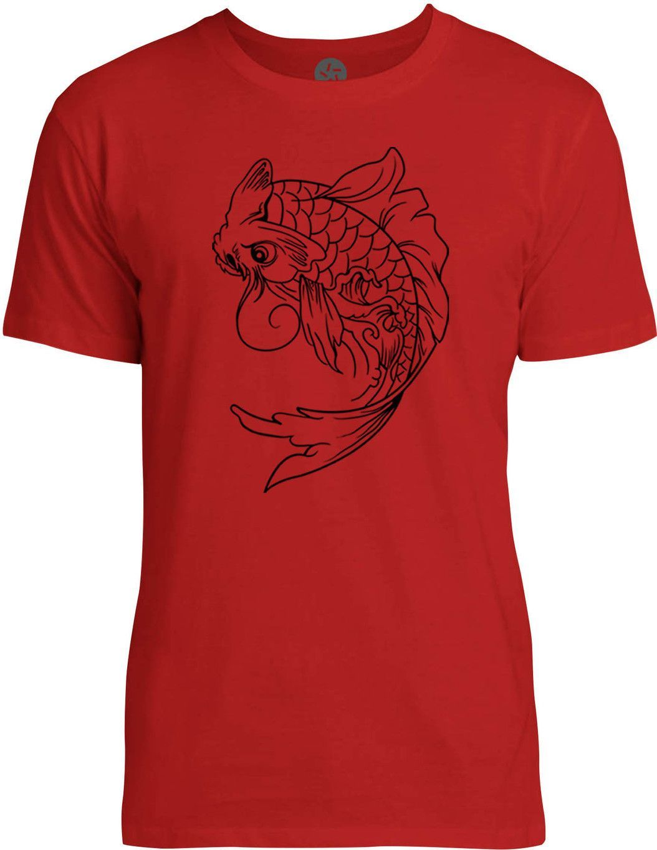 Koi Fish Tattoo (Black) Mens Fine Jersey T-Shirt | Products ...