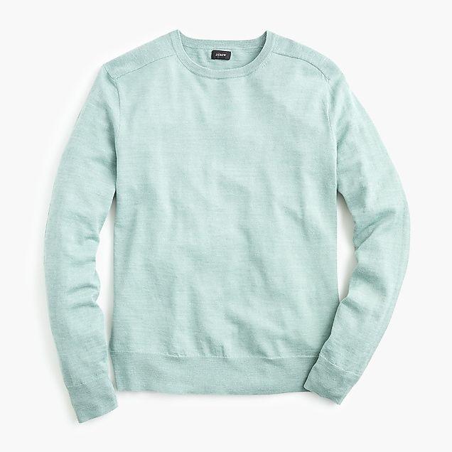 b3b5b3990af men s cotton-linen heather crewneck sweater - JCrew