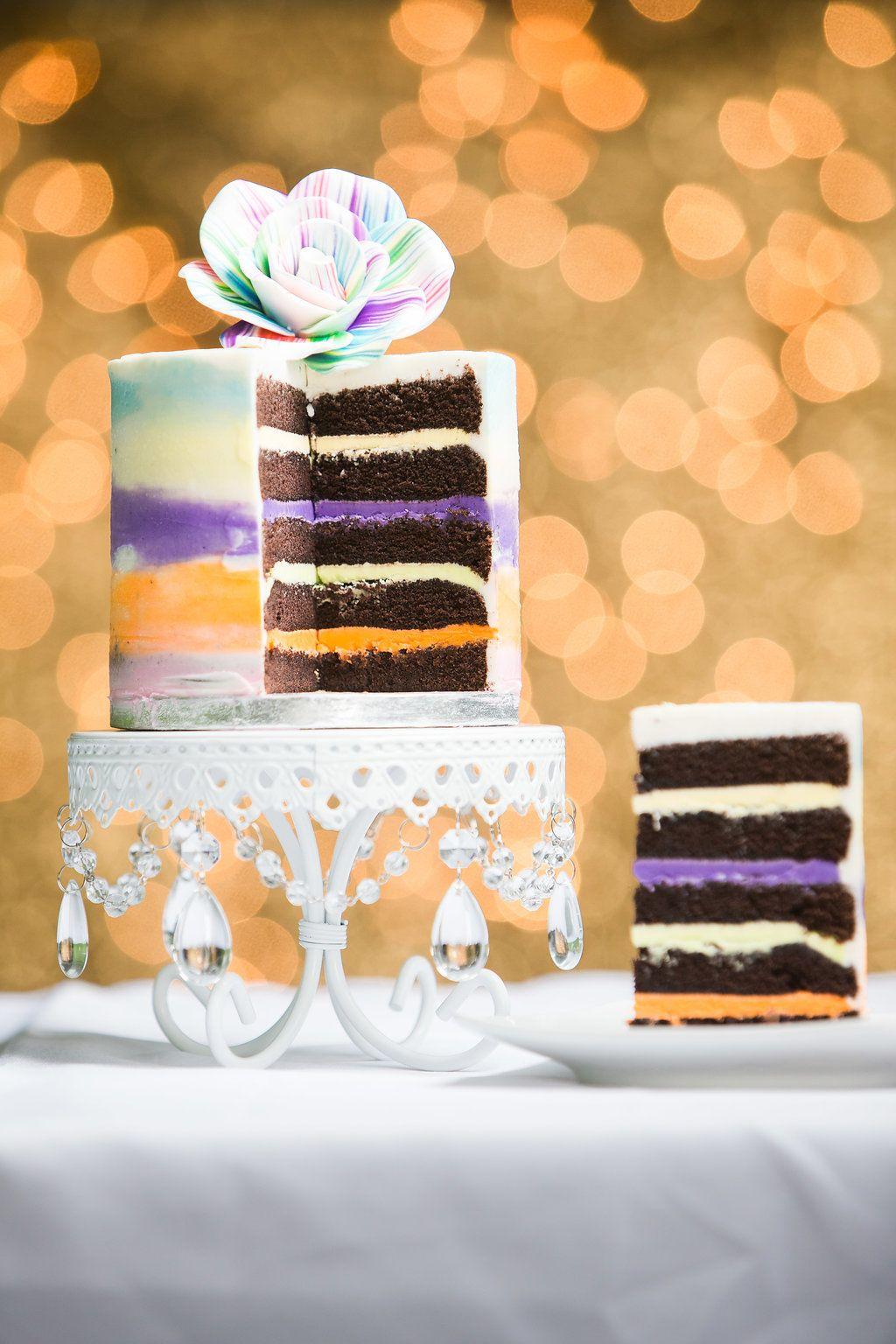 Modern Rainbow Buttercream Cake Made By Chef Aura Fuenmayor Myrtle