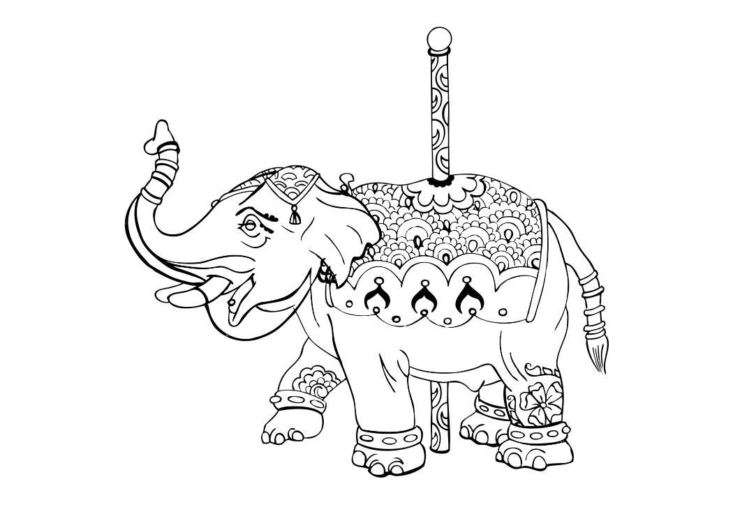 Uncategorized Carousel Animals Coloring Pages images for carousel drawing chalkboards pinterest drawing