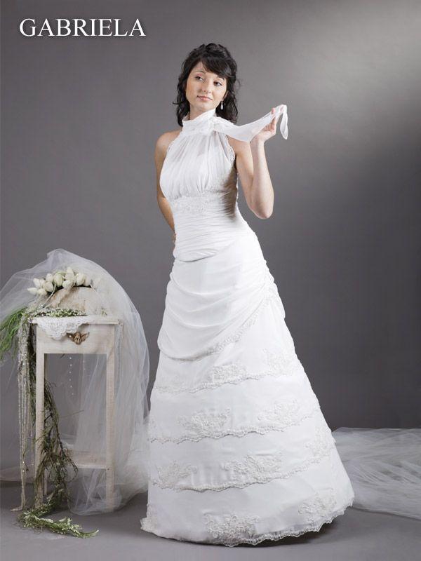 Brautkleid hochgeschlossen | Brautkleider ausgefallen Couture Kleid ...