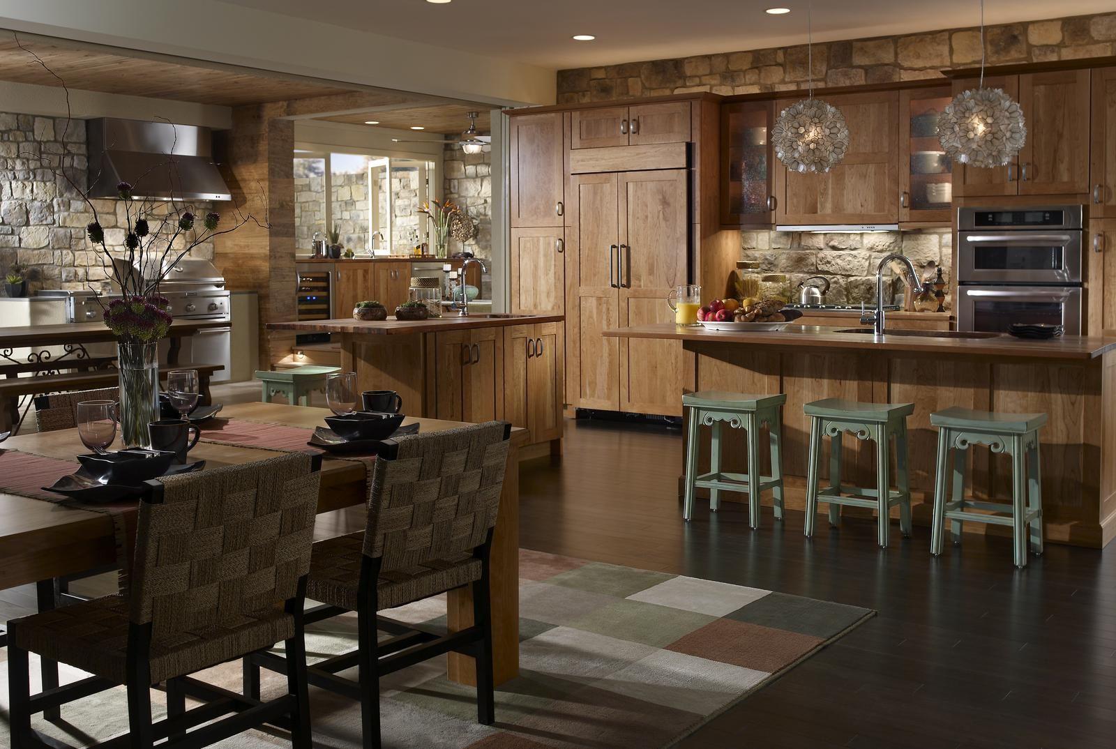 Roughcut Eldorado Stone Rustic Kitchen Manufactured Stone Veneer Gorgeous Kitchens