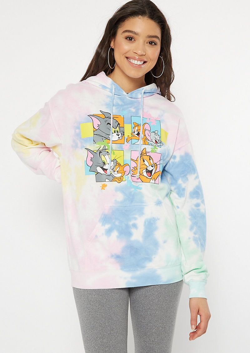 Pastel Tie Dye Tom And Jerry Graphic Hoodie Tie Dye Outfits Graphic Hoodies Tie Dye Hoodie [ 1130 x 800 Pixel ]