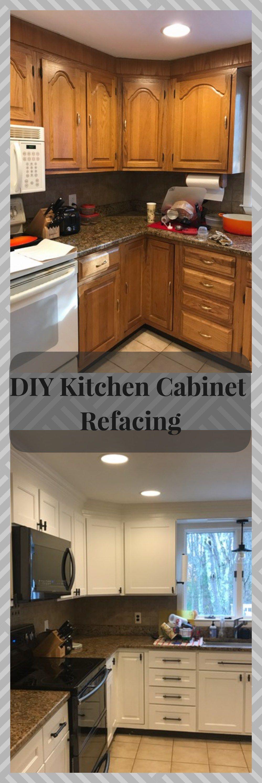 DIY Kitchen Cabinet Refacing | Diy kitchen cabinets ...