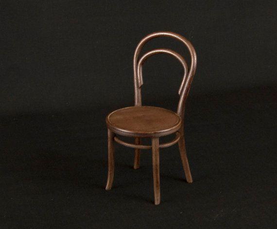 Chaise Thonet 14 Echelle 1 6 Miniature Dollhouse Diorama Thonet Chair Chair Decor