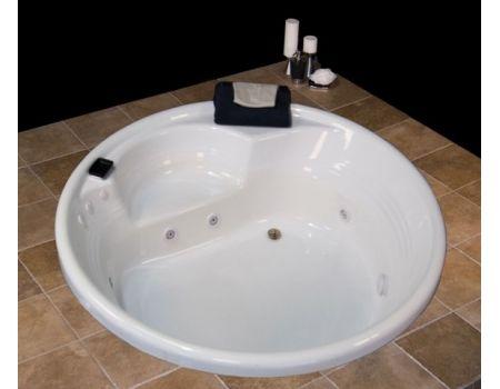 Fl7272 72 Inch Round Bathtub Two Person Soaker Bathtub