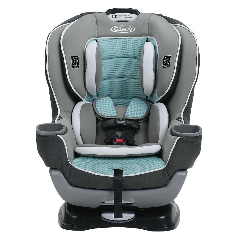 Graco extend2fit convertible car seat turquoiseblue