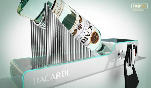 Point of Sale Product Glorifier | Point of Purchase Design | POP | POSM | POS | POP | Bacardi Superior Display by Dmitry Gelishvili, via Behance