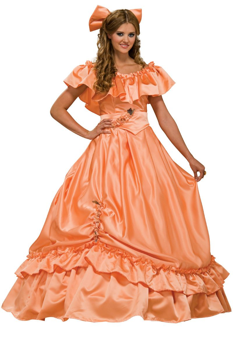 Light Orange Satin Ball Gown | Ball Gowns in 2018 | Pinterest ...