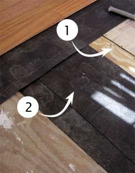 Shimming Low Spot On Wood Subfloor Diy Flooring Plywood Subfloor Flooring