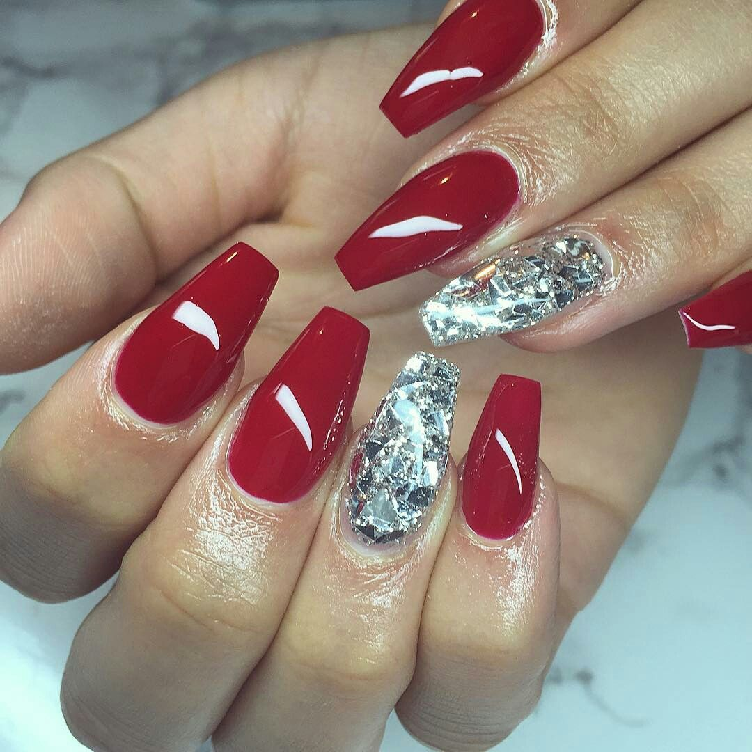 Acrylicnails Rednails Coffin Beautiful Prettynails Christmas Nails Acrylic Nail Designs Christmas Nails