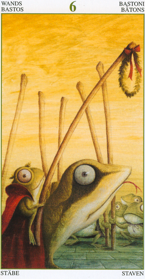 Six of Wands - the Tarot of the Magical Forest (published by Lo Scarabeo with imprint by Llewellyn Worldwide) - victory after hard work ... enjoy!