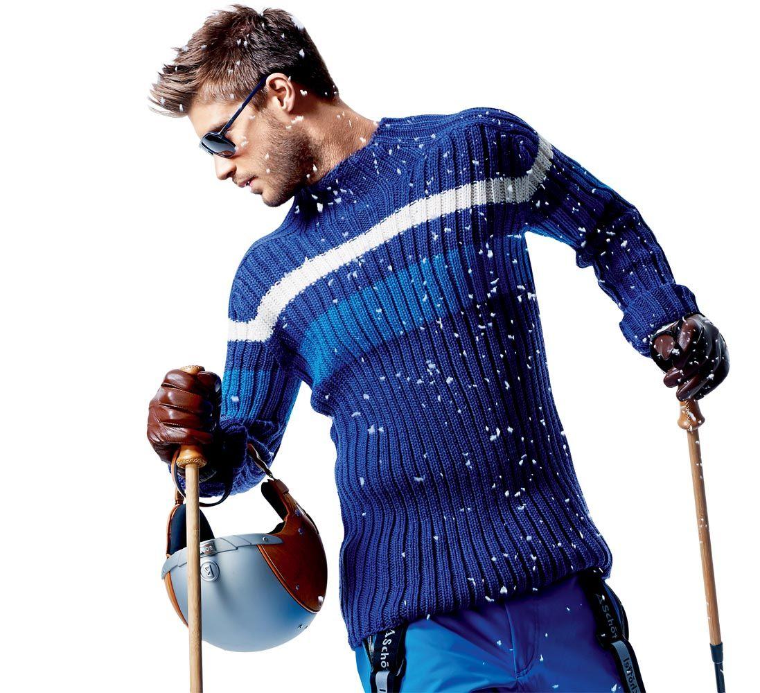 вязание спицами мужского свитера крупными косами схема вязания