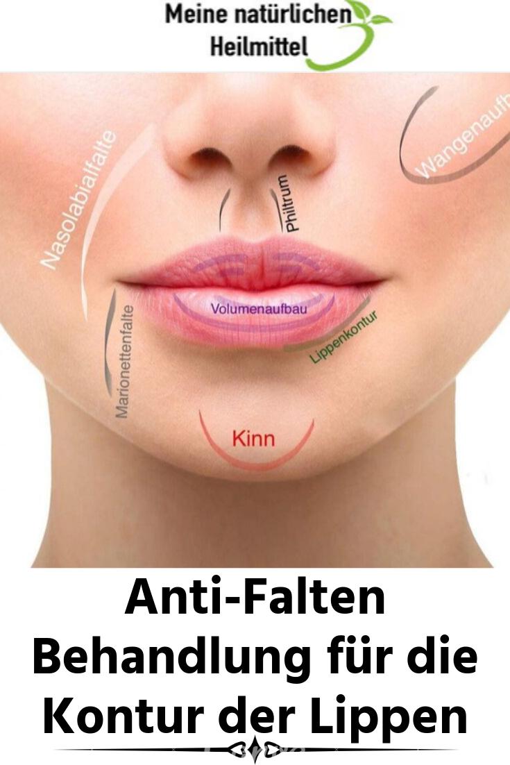Anti Falten Behandlung Für Die Kontur Der Lippen Lippen