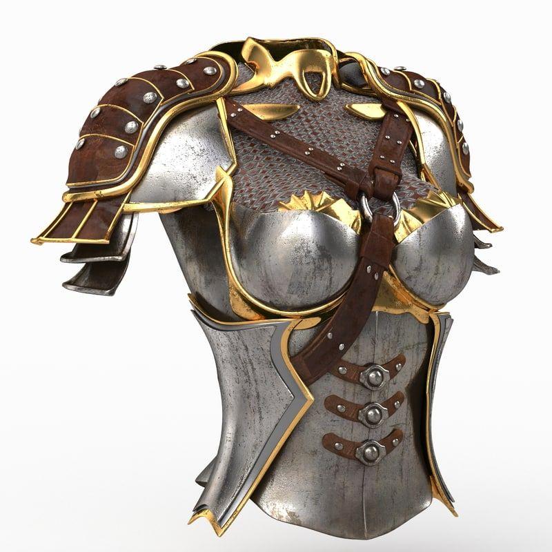 female armour 3d model | Armor | Female armor, Cosplay armor