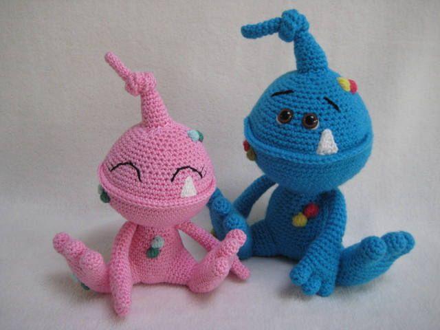 Amigurumi Monsters Inc : Amigurumi crochet pattern monty and myrtle the monsters