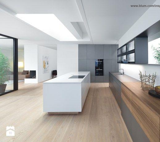 Aranżacje wnętrz - Kuchnia: Kuchnia - wnętrza - Duża otwarta kuchnia ...