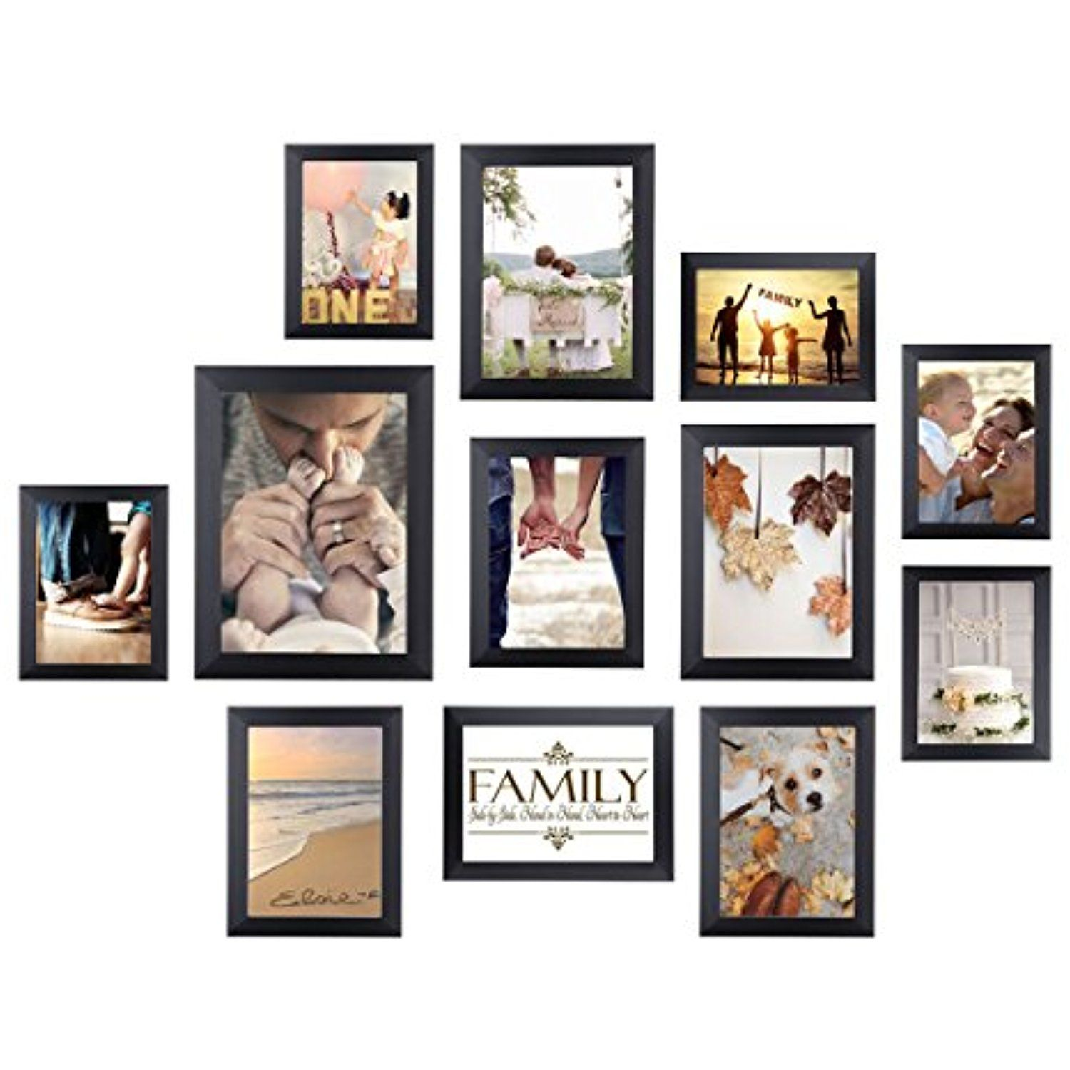 Homemaxs Picture Frame Collage Photo Frame Wall Mounting Photo Frames Eco Friendly Family Photo Frame 12 Collage Picture Frames Photo Frame Wall Frames On Wall