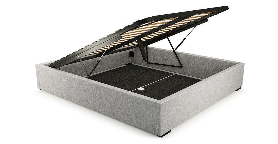 Queen Size Upholstered Gaslift Bed Base Bed Frame Pallet Furniture Bedroom Upholster