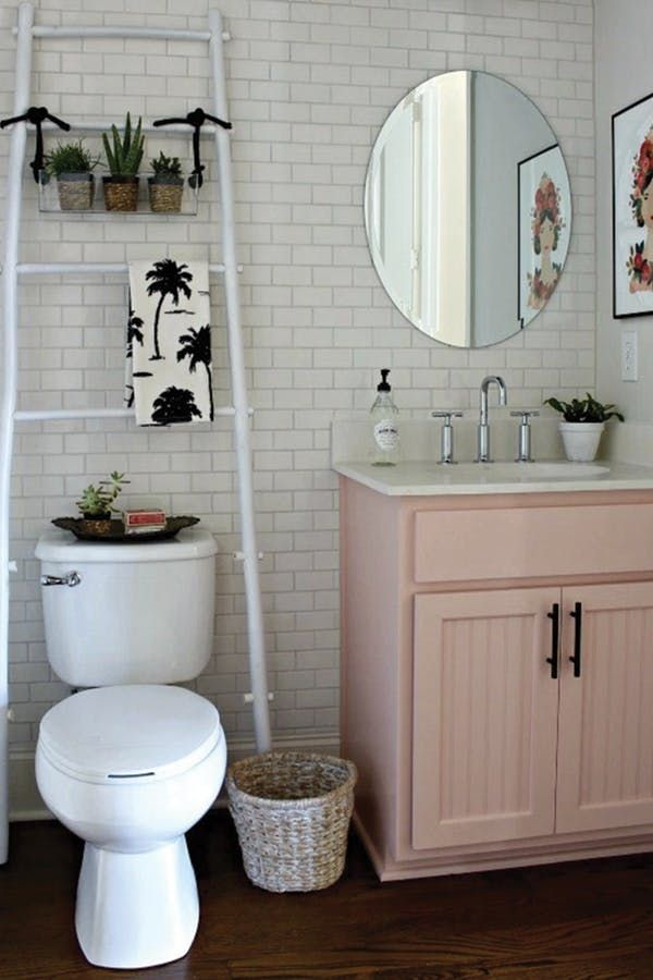 8 Ways To Refresh Your Bathroom For 100 Or Less Via Purewow Small Bathroom Decor First