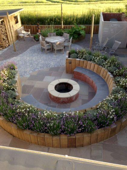 75 Einfache DIY-Feuerstelle für Gartengestaltungsideen