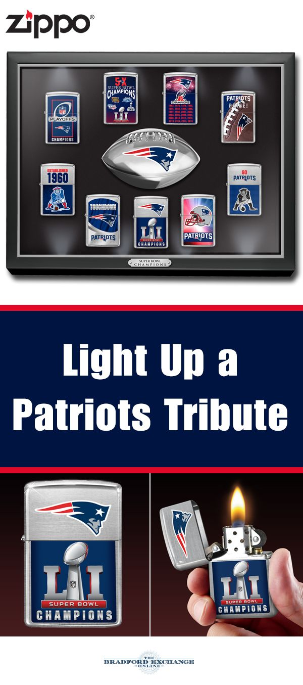 Honor Your Super Bowl Li Champions With This Officially Licensed New England Patriots Zippo Lighter Collection The Eye Catch Patriots Super Bowl Li Super Bowl