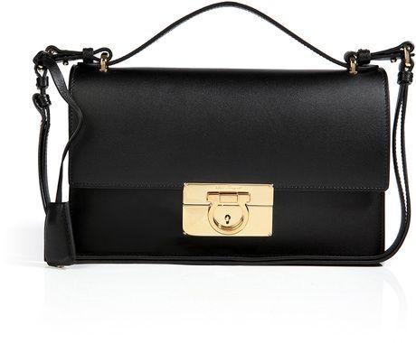 Ferragamo - Leather Aileen Crossbody Bag in Black - Lyst d31002c0a7