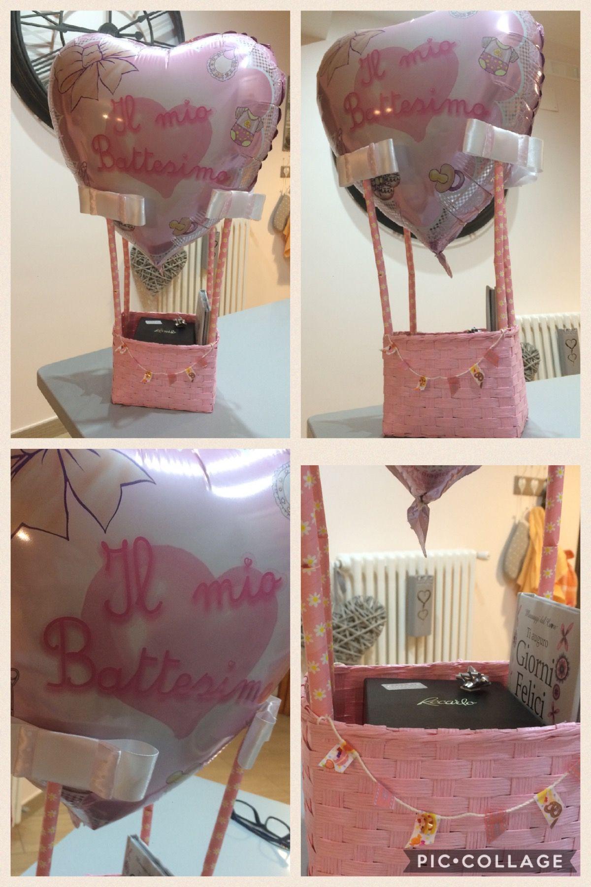 #mongolfiera#battesimo#portaconfetti#portaregalo#babygirl#pink#heart